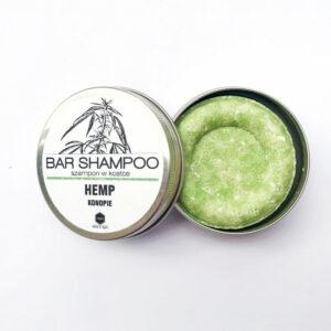 Herbs&Hydro Szampon do włosów w kostce Konopie. Naturalne kosmetyki do włosów Dunia ORganic