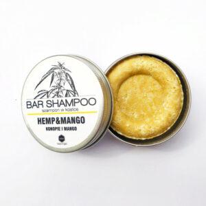 Herbs&Hydro Szampon do włosów w kostce Mango. Naturalne kosmetyki do włosów Dunia ORganic