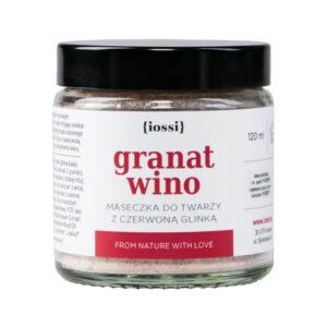 Iossi Maseczka do twarzy Granat i wino. kosmetyki naturalne UK Dunia Organic
