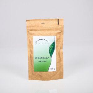 Nanga Chlorella proszek. Kosmetyki do włosów UK Dunia Organic