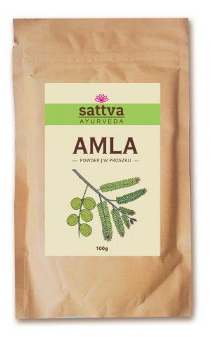 Sattva Ayurveda Amla Proszek Naturalne kosmetyki do włosów Sattva UK Dunia Organic
