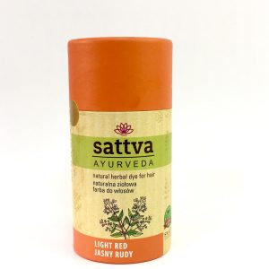 Sattva Ayurveda Henna do włosów Jasny Rudy.Naturalne kosmetyki do włosów Sattva UK Dunia Organic