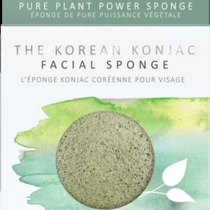 The Konjac Company Gabka konjac premium glinka zielona. Kosmetyki naturalne w UK Dunia Organic