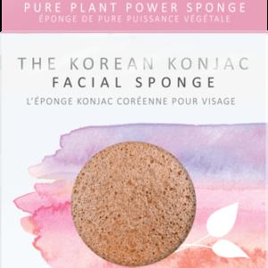 The Konjac Company Gabka konjac premium różową glinką. Kosmetyki naturalne w UK Dunia Organic