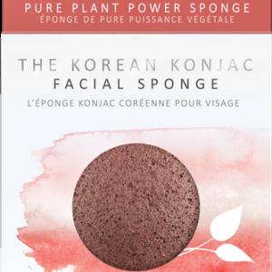 The Konjac Company Gabka konjac premium z czerwona glinka . Kosmetyki naturalne w UK Dunia Organic (1)