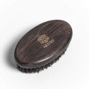 Nested Szczotka DO BRODY z włosiem dzika. Naturalne szczotki UK Dunia Organic