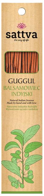 Sattva Ayurveda Kadzidełko Balsamowiec Indyjski 15 patyczków. .Naturalne kosmetyki Sattva UK Dunia Organic