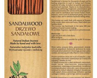 Sattva Ayurveda Kadzidełko Drzewo Sandałowe 15 patyczków.