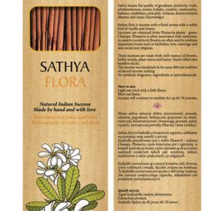 Sattva Ayurveda Kadzidełko flora 15 patyczków. .Naturalne kosmetyki Sattva UK Dunia Organic