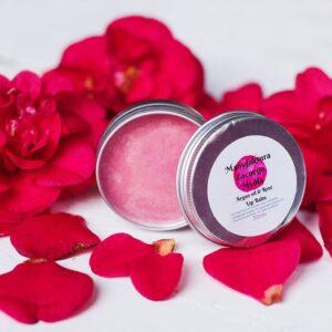 Balsam do ust - olej arganowy i róża