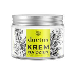 Duetus Krem do twarzy na dzień. Kosmetyki naturalne UK Dunia Organic