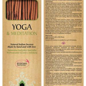 Sattva Ayurveda Kadzidełko yoga 15 patyczków. .Naturalne kosmetyki Sattva UK Dunia Organic