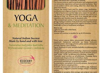 Sattva Ayurveda Kadzidełko Yoga & Meditation 15 patyczków.