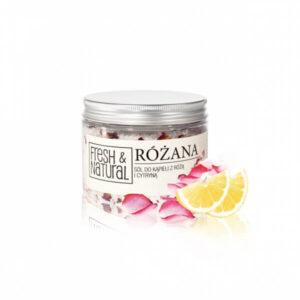 Fresh&Natural różana Sól do kąpieli . Kosmetyki naturalne uk Dunia Organic