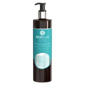 BasicLab Żel oczyszczający do skóry suchej i wrażliwej 500ml. Kosmetyki naturalne UK Dunia Organic.