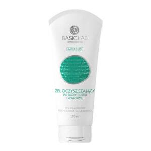 BasicLab Żel oczyszczający do skóry tłustej i wrażliwej 100ml. Kosmetyki naturalne UK Dunia Organic.