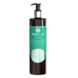 BasicLab Żel oczyszczający do skóry tłustej i wrażliwej 500ml. Kosmetyki naturalne UK Dunia Organic.