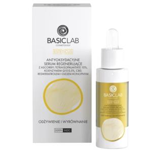 BasicLab Antyoksydacyjne serum regenerujące. Odżywienie i Wyrównanie. Kosmetyki naturalne UK Dunia Organic.
