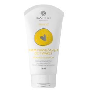 BasicLab Krem Nawilżający do twarzy - Lekka konsystencja . Kosmetyki naturalne UK Dunia Organic.