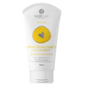 BasicLab Krem Nawilżający do twarzy - bogata konsystencja . Kosmetyki naturalne UK Dunia Organic.