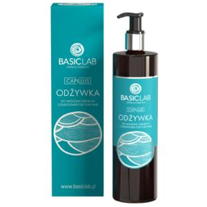 BasicLab Odżywka do włosów cienkich. Kosmetyki naturalne UK Dunia Organic.