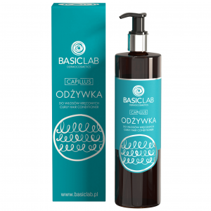 BasicLab Odżywka do włosów kręconych. Kosmetyki naturalne UK Dunia Organic.