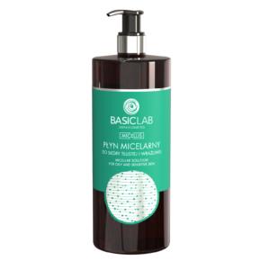 BasicLab Płyn Micelarny do skóry tłustej i wrażliwej 500ml. Kosmetyki naturalne UK Dunia Organic.