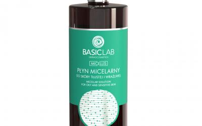BasicLab Płyn micelarny do skóry tłustej i wrażliwej 500ml