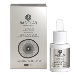 BasicLab Serum Peptydowe pod oczy z argireliną 10%. Nawilżenie i Ujędrnienie . Kosmetyki naturalne UK Dunia Organic.