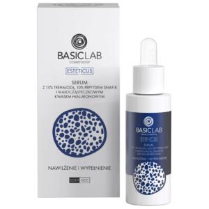 BasicLab Serum z trehazolą 15% i 10% peptydem Nawilżenie i Wypełnienie. Kosmetyki naturalne UK Dunia Organic.