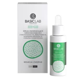 BasicLab Serum zmniejszające niedoskonałości z niacynamidem 10% . Kosmetyki naturalne UK Dunia Organic.