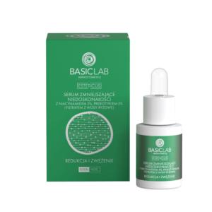 BasicLab Serum zmniejszające niedoskonałości z niacynamidem 5% . Kosmetyki naturalne UK Dunia Organic.