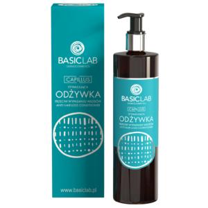 BasicLab Stymulująca Odżywka do wypadajacych włosów. Kosmetyki naturalne UK Dunia Organic.