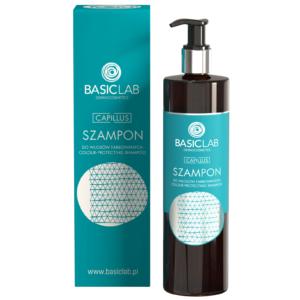BasicLab Szampon do włosów farbowanych. Kosmetyki naturalne UK Dunia Organic.