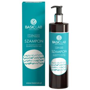 BasicLab Szampon do włosów suchych. Kosmetyki naturalne UK Dunia Organic.