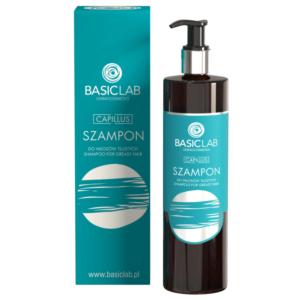 BasicLab Szampon do włosów tłustych. Kosmetyki naturalne UK Dunia Organic.