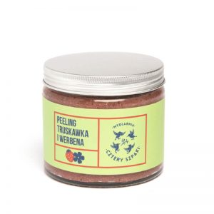 Cztery szpaki Peeling do ciała truskawka i werbena . Naturalne kosmetyki w uk dunia organic