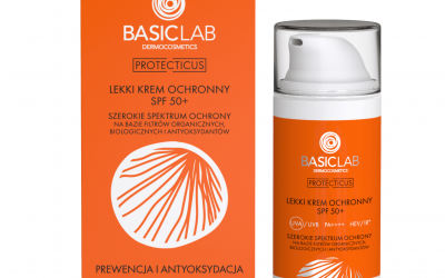 BasicLab Lekki krem ochronny SPF50+. Prewencja i Antyoksydacja 50ml