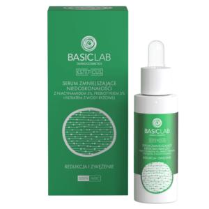BasicLab Serum zmniejszające niedoskonałości z niacynamidem 5% 30ml . Kosmetyki naturalne UK Dunia Organic.