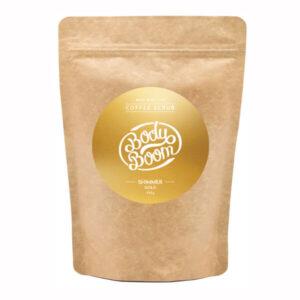 BodyBoom Peeling Kawowy Shimmer Gold 200g. Naturalne peelingi Dunia Organic.