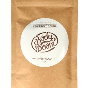 BodyBoom Peeling Kawowy Sweet coconut 100g. Naturalne peelingi Dunia Organic.