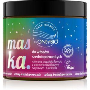 OnlyBio Hair Balance Maska do włosów średnioporowatych 400 ml. Kosmetyki naturalne w UK Dunia Organic