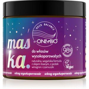 OnlyBio Hair Balance Maska do włosów wysokoporowatych 400 ml. Kosmetyki naturalne w UK Dunia Organic