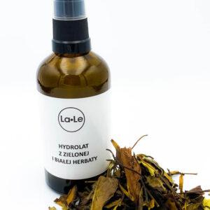 La-Le Hydrolat z zielonej i białej herbaty. Kosmetyki naturalne i organiczne UK Dunia Organic