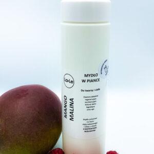 La-Le Mydło potasowe w piance -Mango i Malina 200ml. Kosmetyki naturalne uk Dunia
