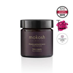 Mokosh Aktywny peeling do twarzy Róża z jagodą 60ml Naturalne kosmetyki w UK Dunia