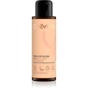 OnlyBio Pinch Of Glow Tonik złuszczająco-rozświetlający 100 ml Kosmetyki naturalne w UK Dunia Organic